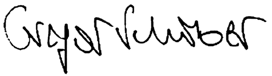 Unterschrift Gregor Schober